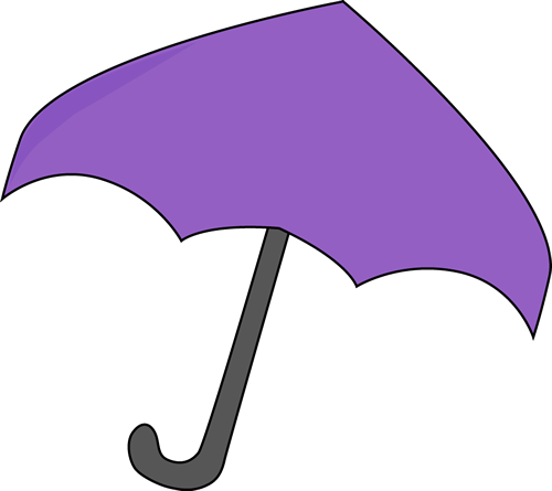 purple umbrella.