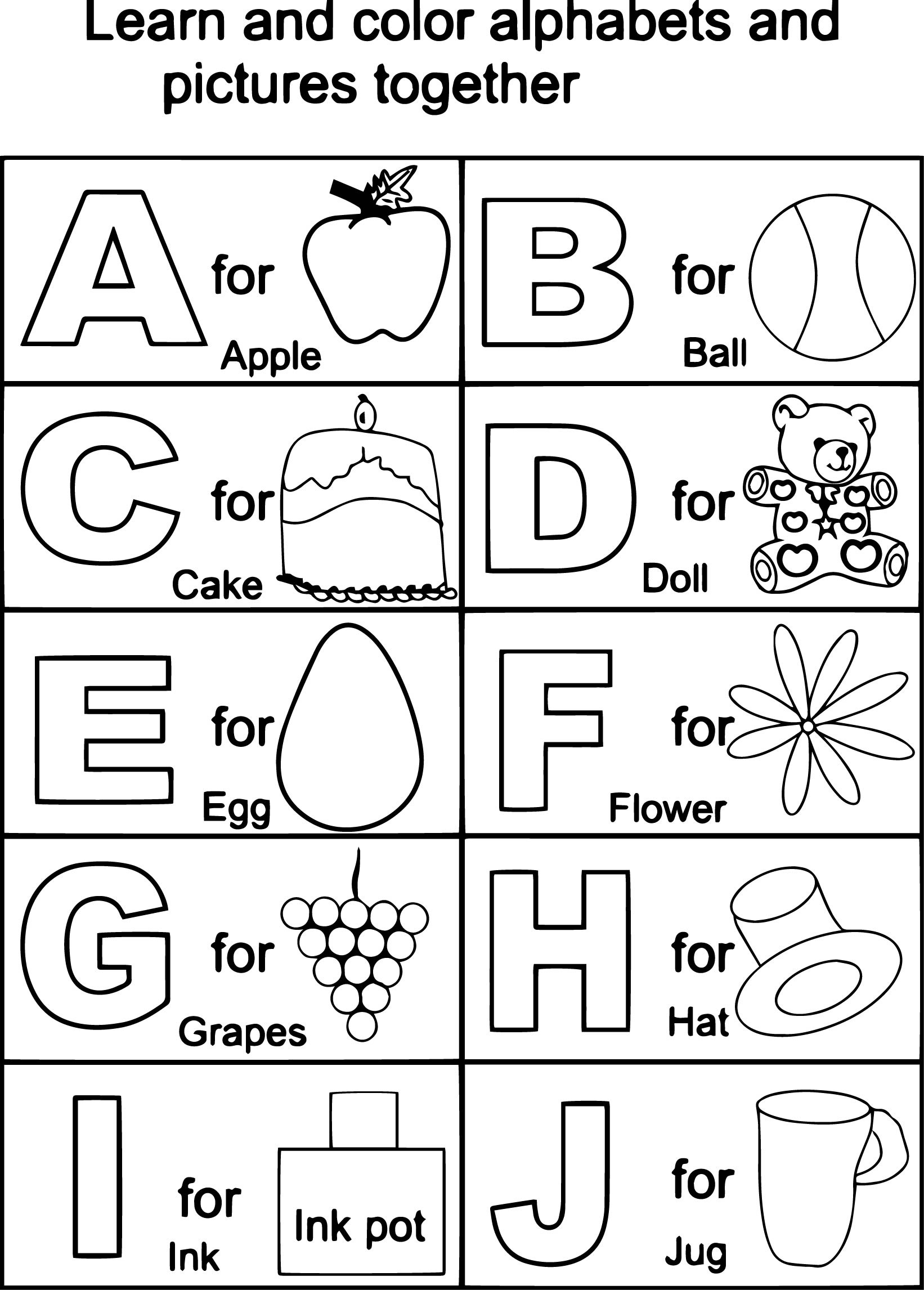 Coloring Pages Of Abc.
