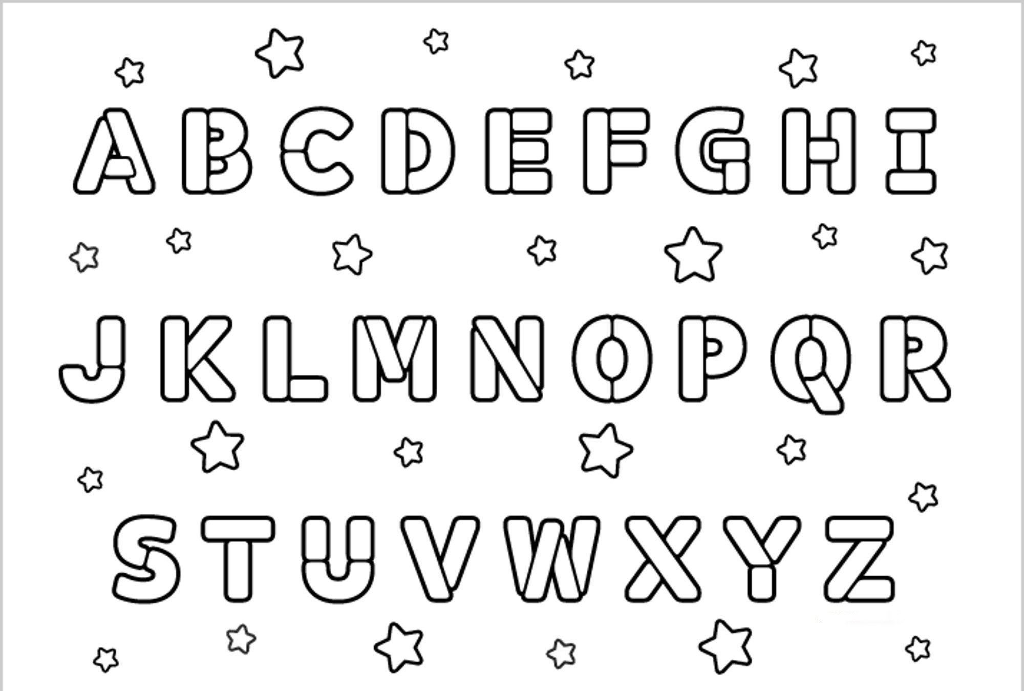 Printable Alphabet Coloring Pages For Kids.