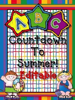 ABC Countdown To Summer (Editable).
