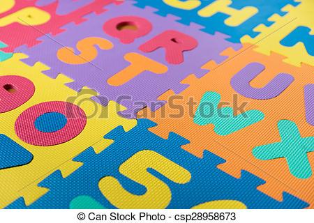 Picture of ABC foam puzzle.
