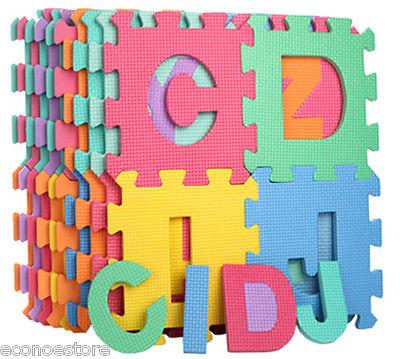 26pc Learning Alphabet Letter Puzzle Foam ABC Floor Mat Baby.