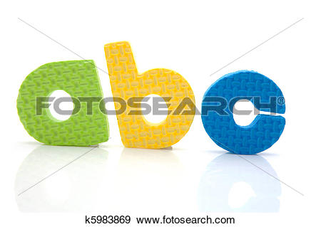 Stock Photograph of colorful a b c foam letters k5983869.