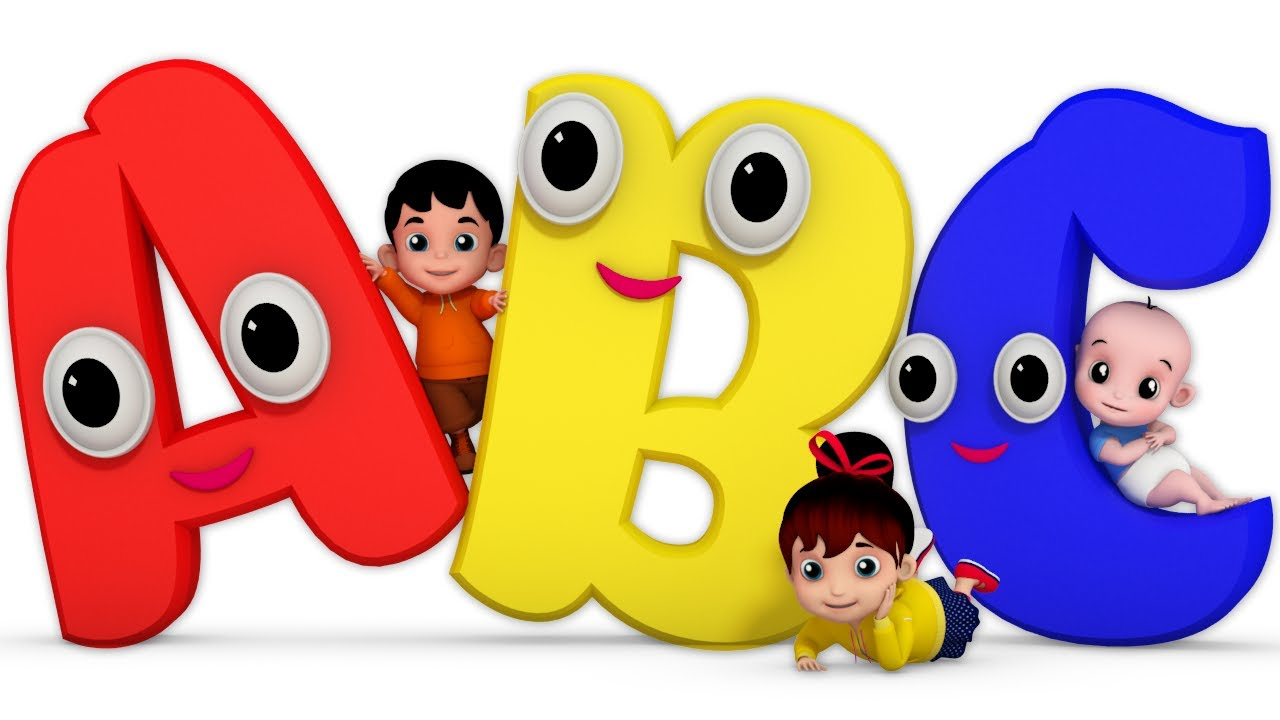 Kids Learning Abc Clipart.