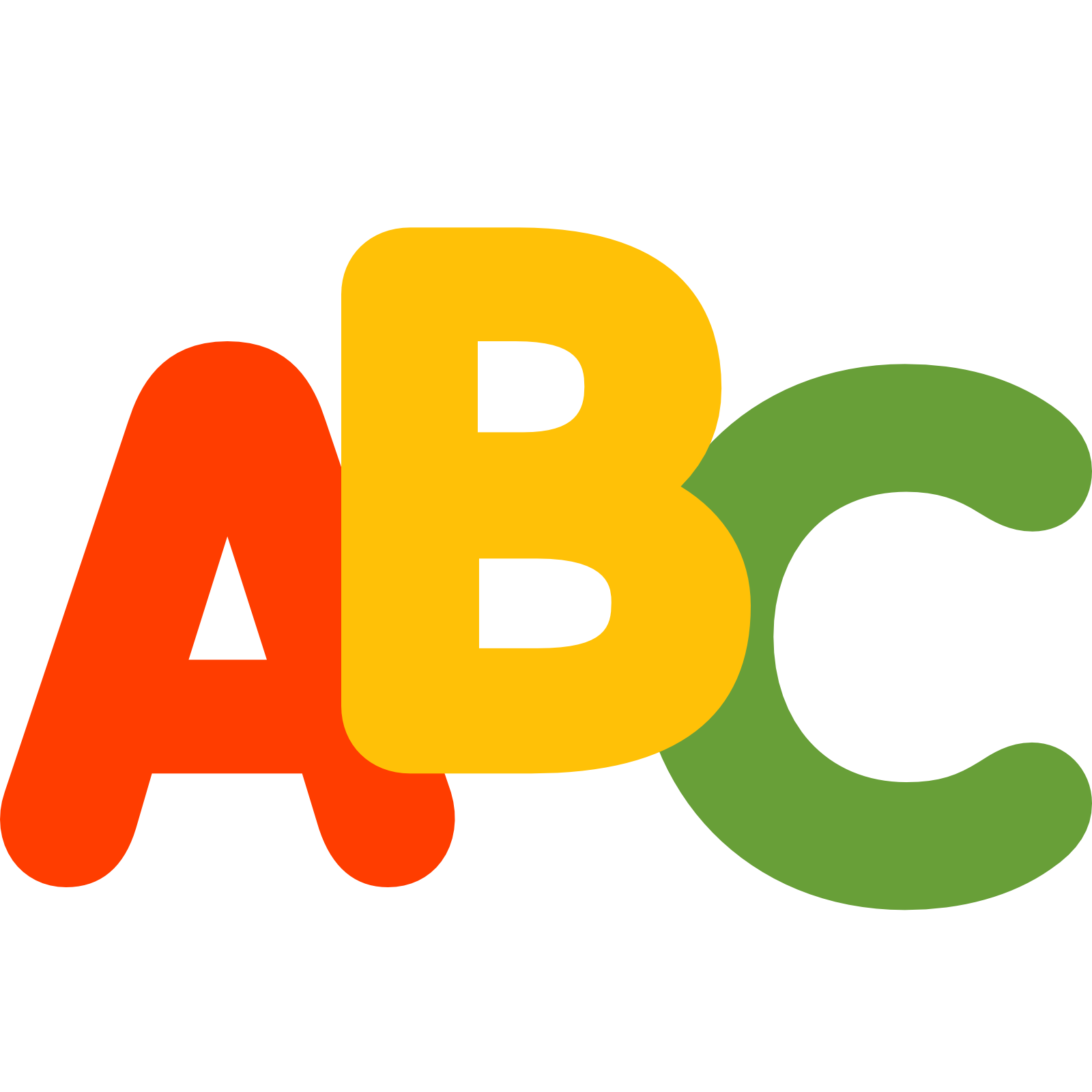 Abc icon clipart Transparent pictures on F.