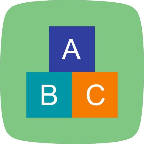 ABC Cubes Vector Icon.