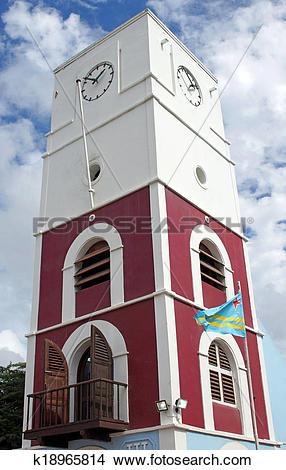 Stock Photo of Oranjestad, Aruba, ABC Islands k18965814.