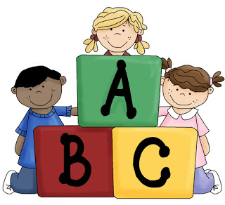 Kids With Blocks Clipart.