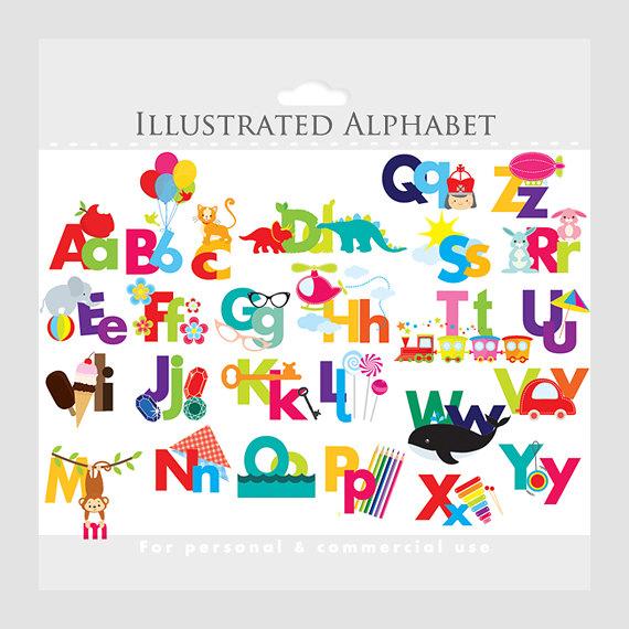 ABC Alphabet Letters Clipart.