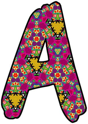 Clipart Individual Alphabet Letters.