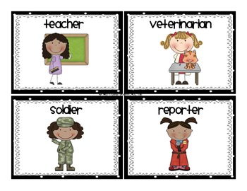 Community Helpers: ABC Order Center {Freebie!}.