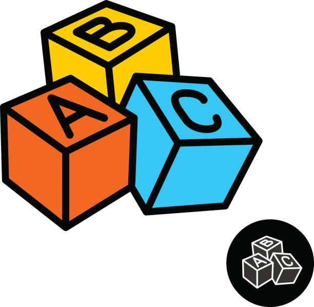Best Abc Blocks Illustrations, Royalty.