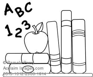 Abc 123 Clipart Black And White.