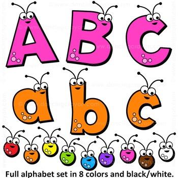Clip Art Alphabet Letters.