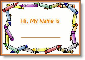 editable printable abc border name tags.