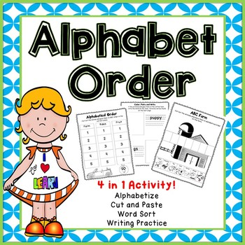 Alphabetical Order Cut and Paste and Sorting Activity.