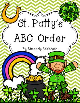 St. Patrick\'s Day ABC Order Practice.
