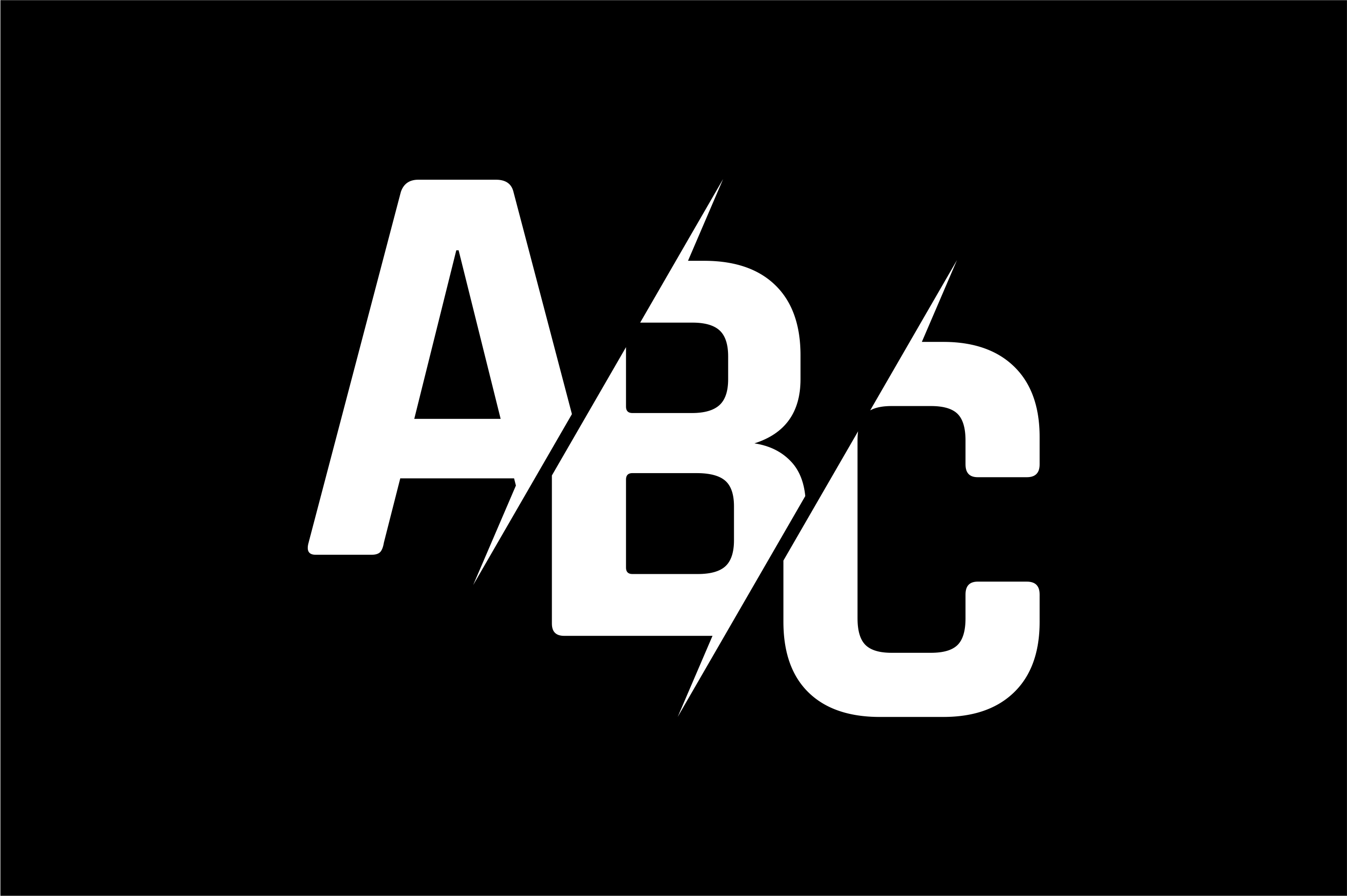 Monogram ABC Logo Design.