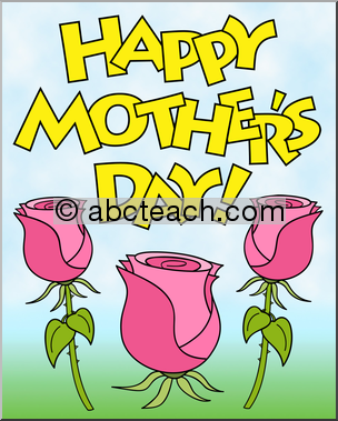 Happy Mother\'s Day Clip Art: Copy, paste and reduce or.