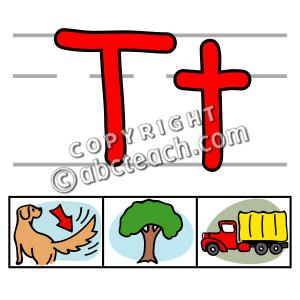 Alphabet T Clipart.