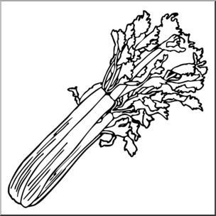 Clip Art: Celery B&w I Abcteach.