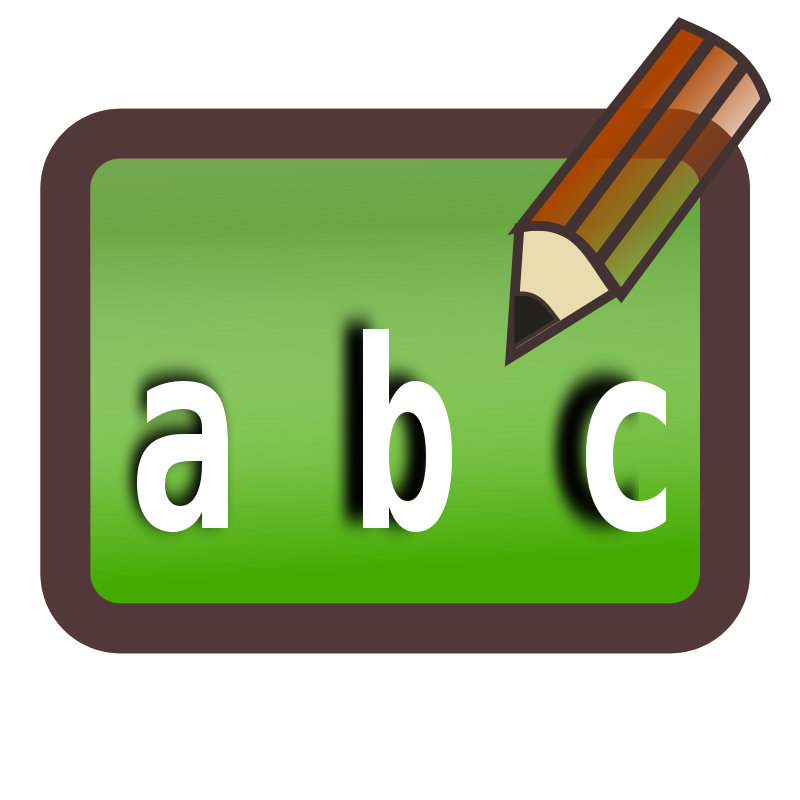Abc Writing Clipart.