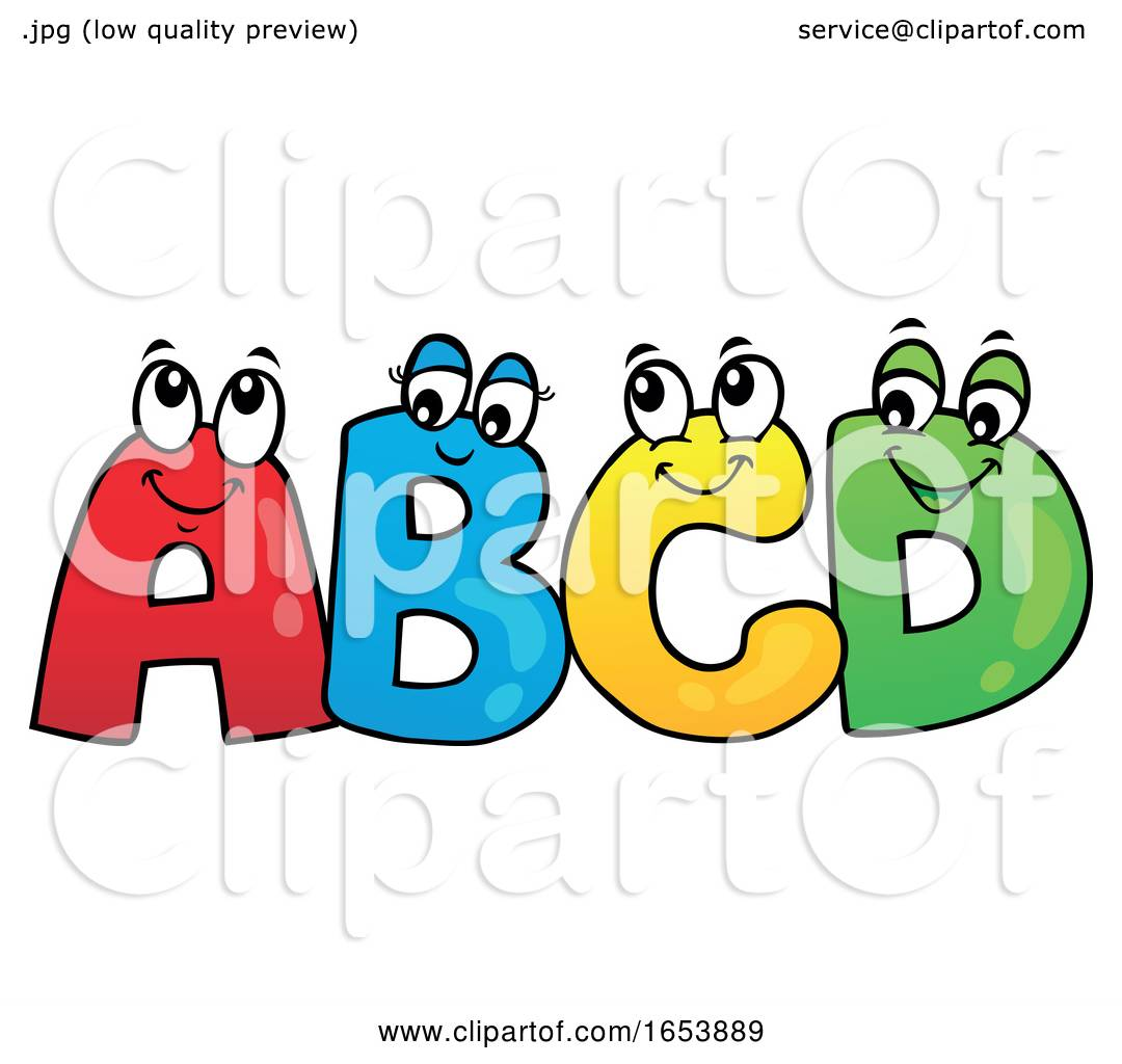 Cartoon ABCD Letter Characters by visekart #1653889.