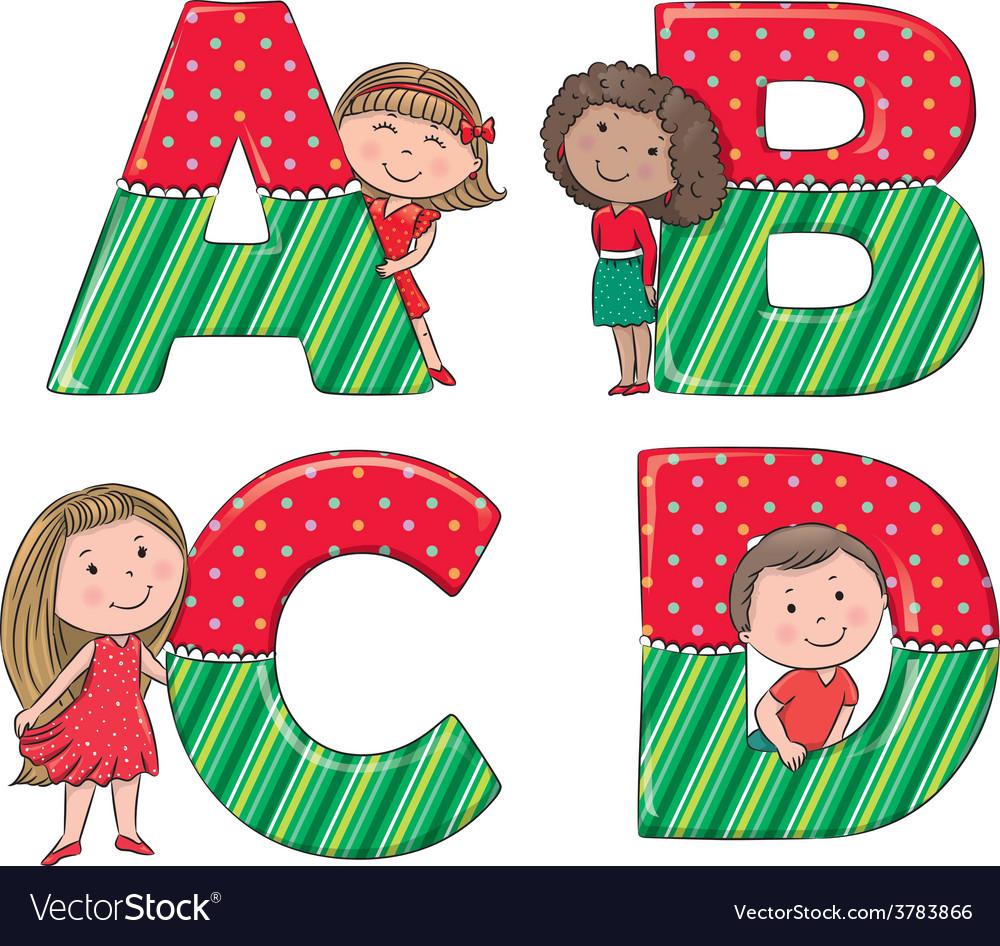 Alphabet kids ABCD.