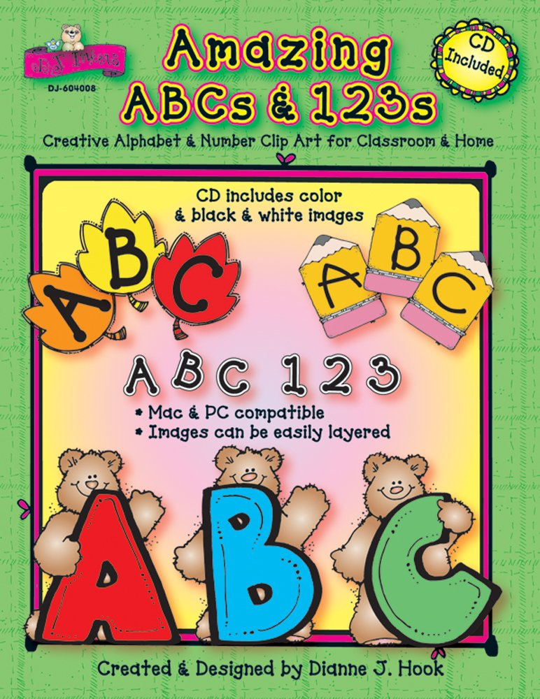 Amazing ABCs and 123s: Creative Alphabet & Number Clip Art.