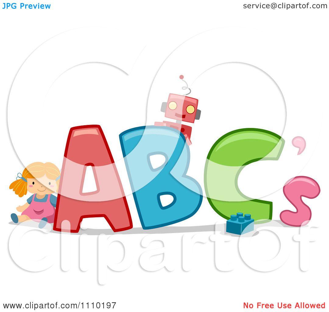 Clipart Alphabet Toys With ABCs.