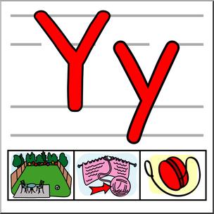 Clip Art: Alphabet Set 01: Y Color I abcteach.com.