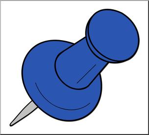 Clip Art: Tack Blue Color 2 I abcteach.com.