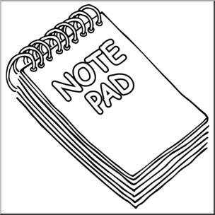 Clip Art: Note Pad B&W I abcteach.com.