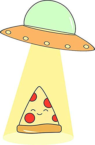 Amazon.com: Magnet Cute Happy Pizza Slice Being Abducted by.