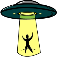 Alien Abduction Clipart.
