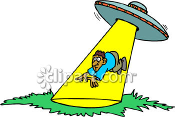 Ufo abduction clipart.