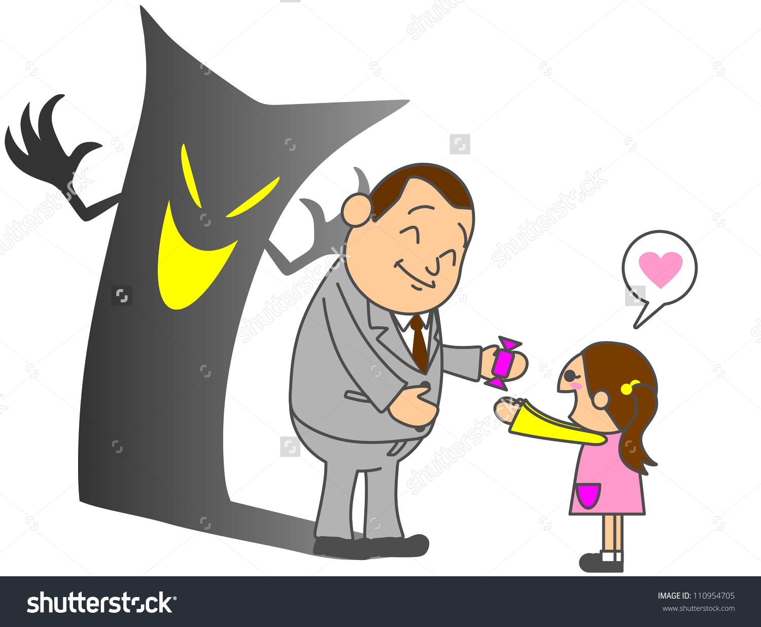 Child abduction clipart.
