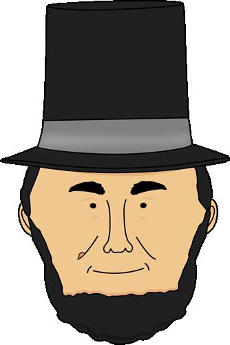 Abraham Lincoln Face Clip Art.