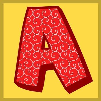 ABC Squares Clipart.