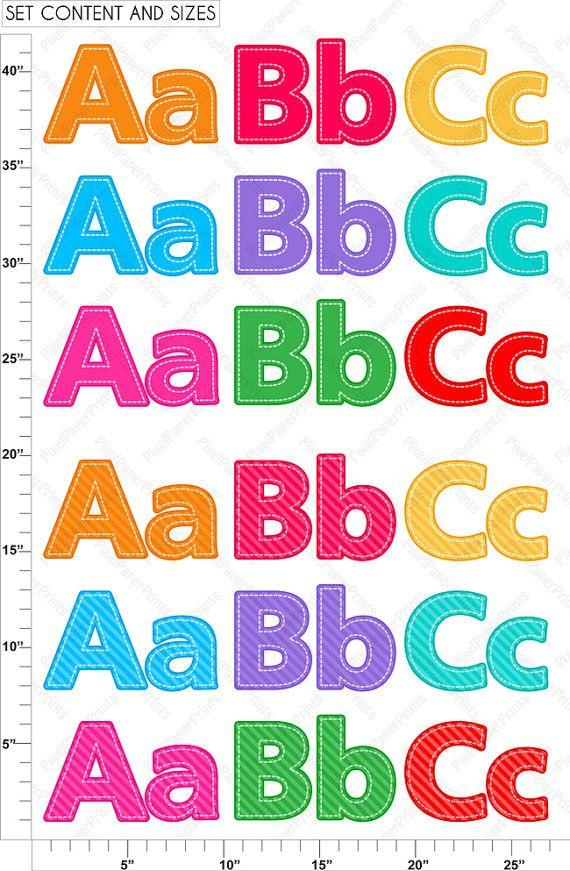 Alphabet Clipart Part 1.