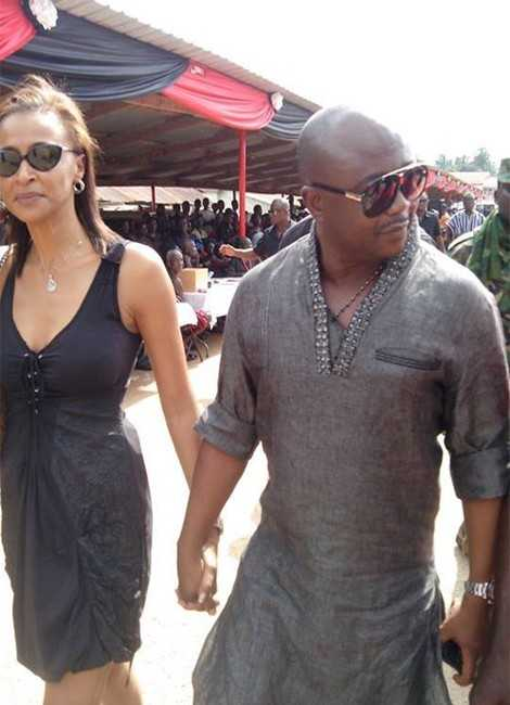 Abedi Ayew Pele & Wife (PHOTO).