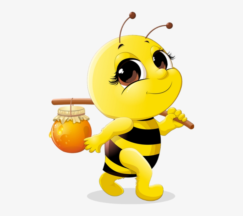 Abeille Dessin Tube Funny Bee Clipart Abeja Png Png.