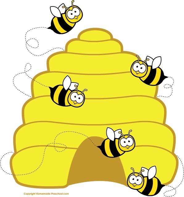 Honey bee clipart image cartoon honey bee flying around.