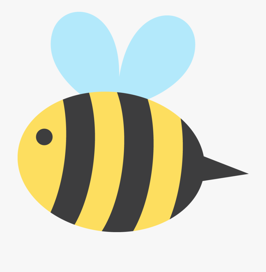 Transparent Cute Bee Png.