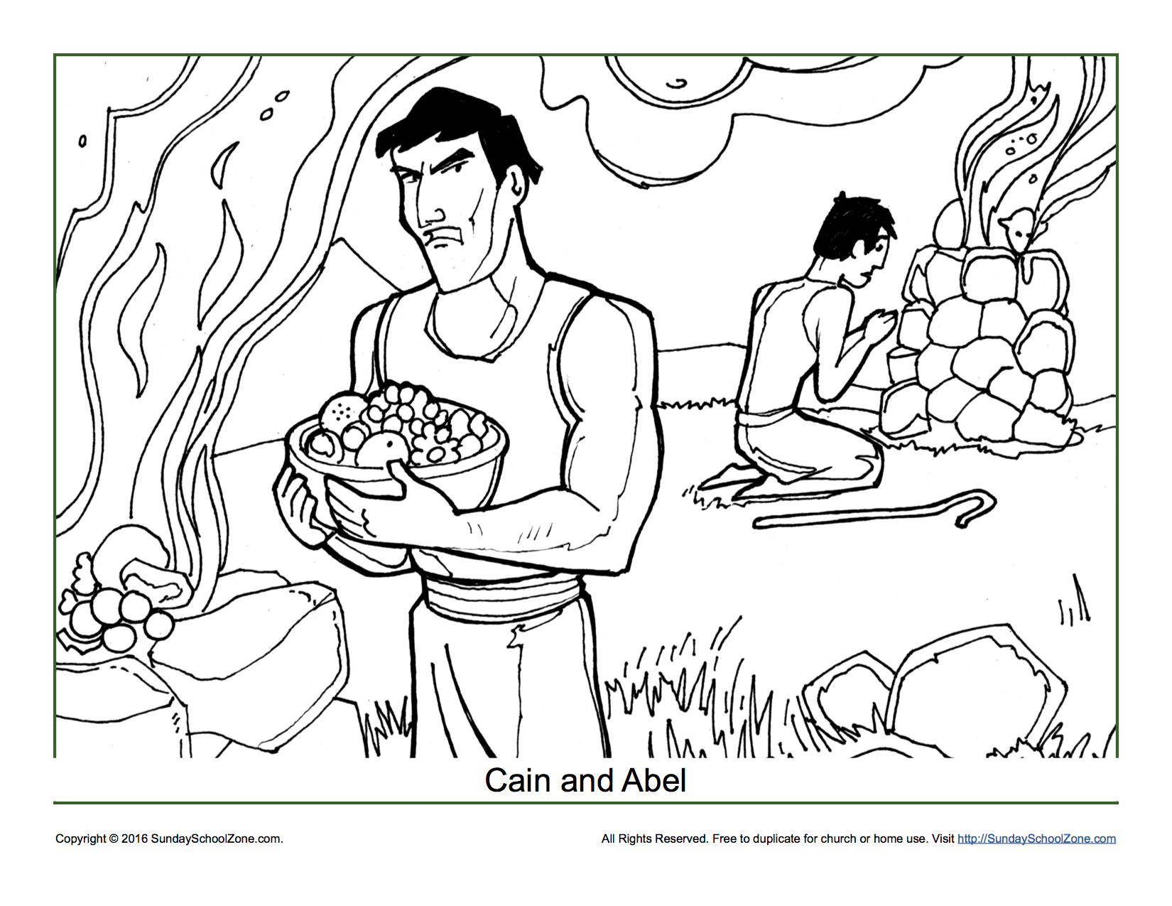 Cain And Abel Bible Story Coloring Pages.