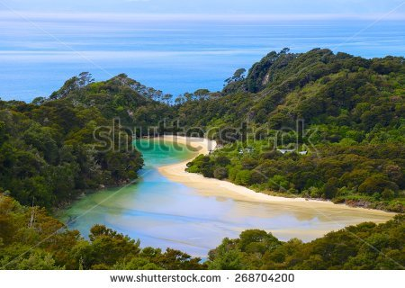 Abel Tasman National Park Stock Photos, Royalty.