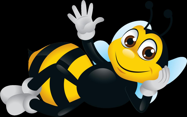 Bee Clipart, Cartoon Bee, Cute Bee, Image.