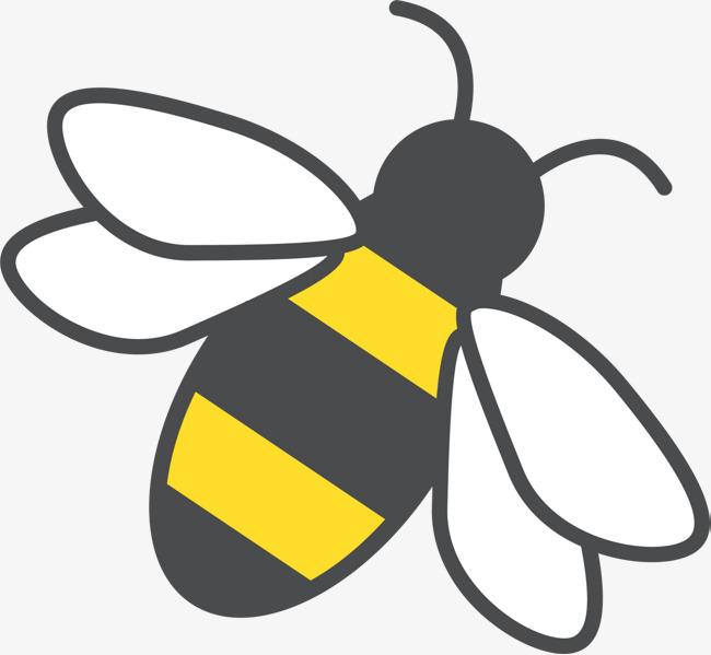 Pintado De Amarelo Nas Asas Das Abelhas, Desenho De Abelha, Simples.
