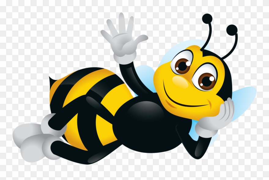 Bee Clipart, Cartoon Bee, Cute Bee, Image.