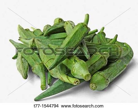 Stock Photo of Abelmoschus esculentus, Lady Finger at marketplace.